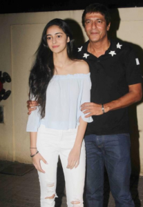 Ananya Pandey with her Dad
