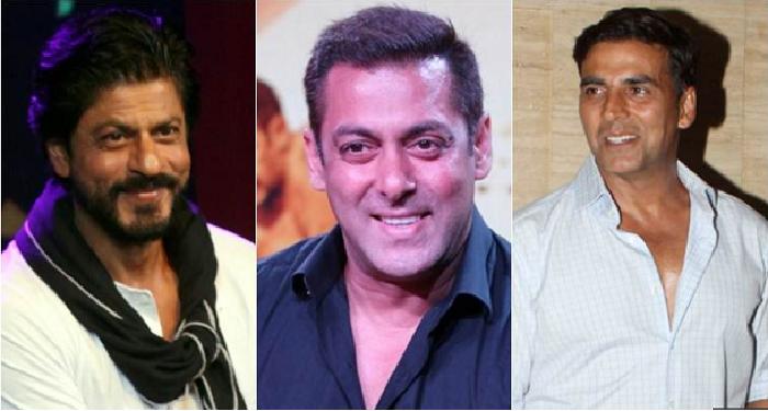 Shahruk Khan, Salman Khan and Akshay Kumar.