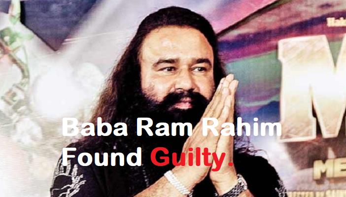 Baba ram rahim found guilty