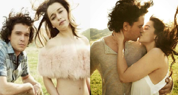 These pictures of Jon-Daenerys kissing will make you want the show to end that way.