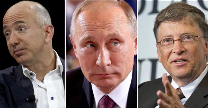 Vladimir Putin richer than everybody.