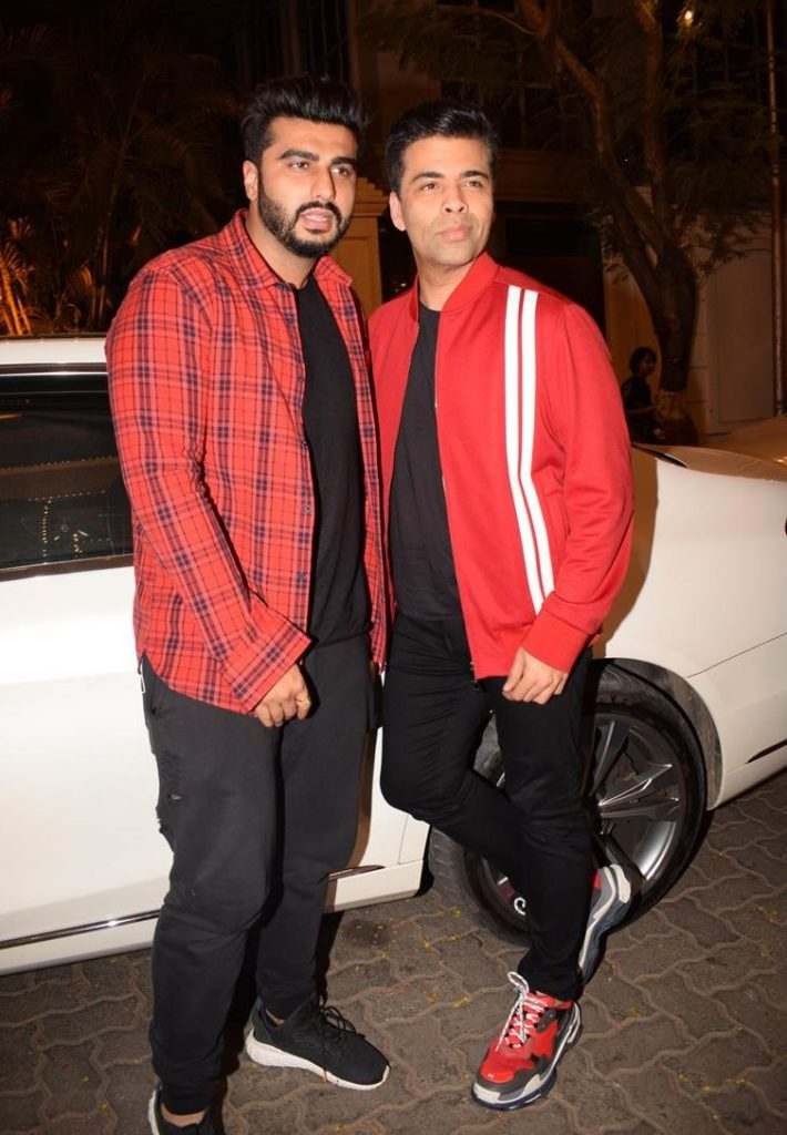 Arjun Kapoor and Karan Johar
