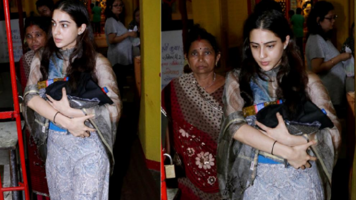 Sara Ali Khan trolled for visiting temple.