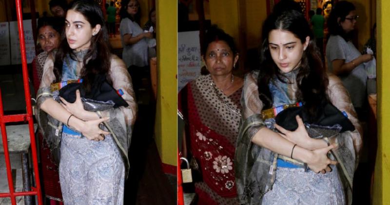 Sara Ali Khan trolled for visiting temple.