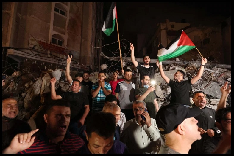 After 11 days Israel halts attacks, ceasefire between Hamas-Israel, celebrations in Gaza.